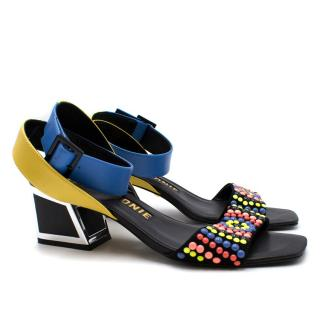 Kat Maconie Gina Multicoloured Mid Heeled Sandals