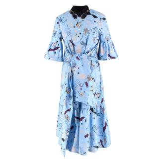 Vivetta Printed Drop Waist Dress