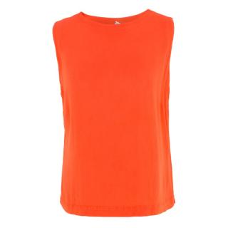 HW2 Coral Sleeveless Crepe Top