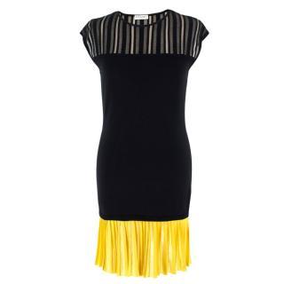 Vionnet Knitted Silk & Cotton Blend Mini Dress
