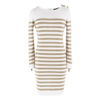 Balmain Knit Striped Dress