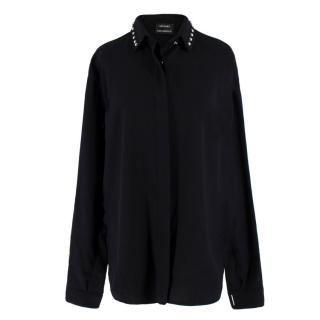 Anthony Vaccarello Classical Studded Wool Shirt