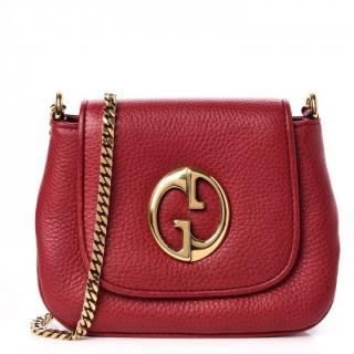 Gucci Vintage Pebbled Calfskin Small '1973' Shoulder Bag