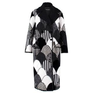 Dolce & Gabbana Patchwork Printed Coat