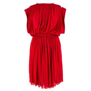 Vionnet Red Ruched Dress