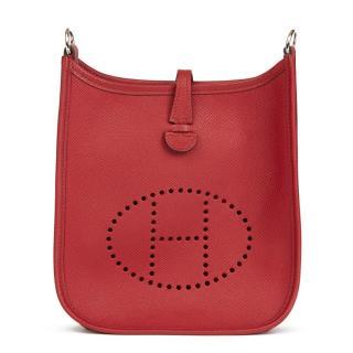 Hermes Rouge Grenat Epsom Leather Evelyne III TPM