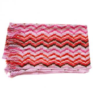 Missoni Multi-coloured Zig Zag Knit Shawl