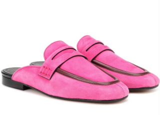 Isabel Marant follan fuchsia loafers