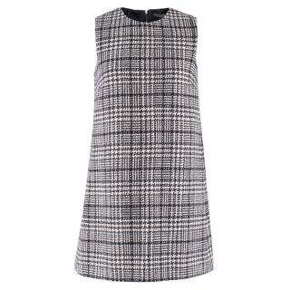 Dolce & Gabbana Wool Tweed Sleeveless Shift Dress