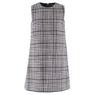 Dolce & Gabbana Wool Tweed Sleeveless Shift Dress