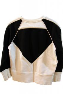 IRO Leather and Cotton jumper