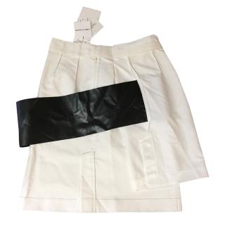 Comme des Garcons white skirt