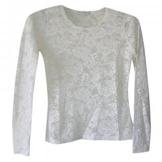 Anne Fontaine White Lace Top
