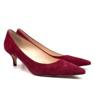 L.K. Bennett Audrey Red Suede Court Shoe