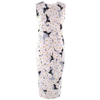 Sportmax Embroidered Daisy Print Midi Dress