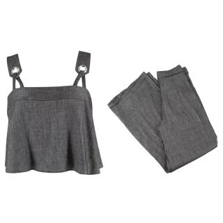 Milly Grey Crop Top and Trouser Set