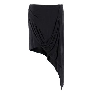 Helmut Lang Asymmetric Black Skirt
