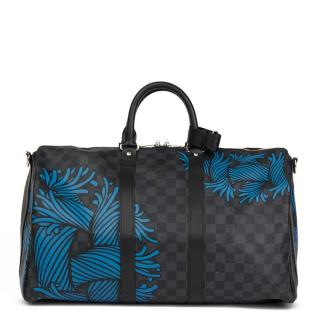 97b247eb020d Louis Vuitton Graphite Damier Christopher Nemeth Keepall 45