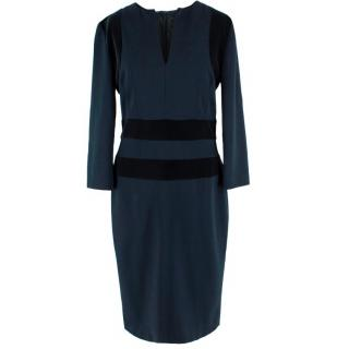 Alexander McQueen Velvet Panelled Midi Dress