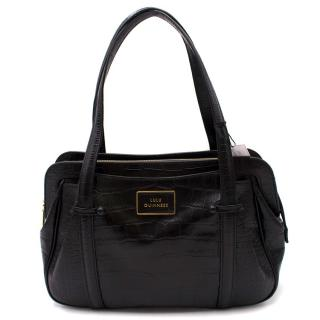 Lulu Guinness Black Croc Embossed Bag