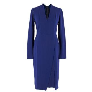 Roland Mouret Blue Structured Fitted Dress