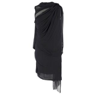 Lanvin Silk Draped Wrap Dress
