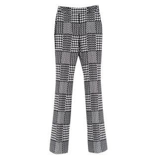 Alexander McQueen Jacquard Abstract Monochrome Trousers