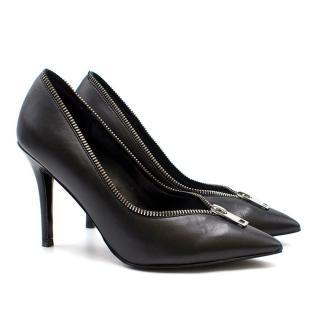 Diesel Black Zipper Heels