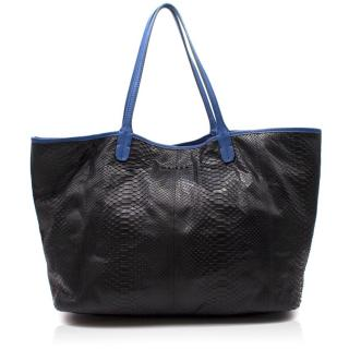 Maisha London Python Skin Tote Bag