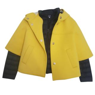 Max Mara hooded removable cape padded jacket