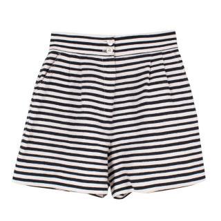 Dolce & Gabbana Linen Striped Shorts