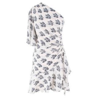 A.L.C Silk Draped One Shoulder Dress