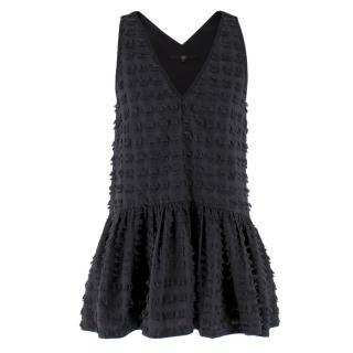 Tibi Textured Sleeveless Tunic Top