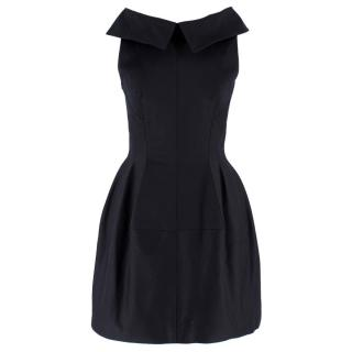 Alaia Black Fit & Flare Mini Dress