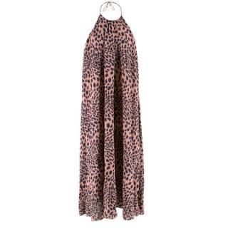 Zimmerman Leopard Print Halterneck Dress