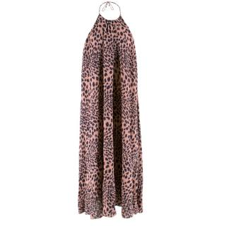 Zimmerman Leopard Print Halterneck Dress