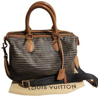 Louis Vuitton Limited Edition Striped Travel Bag