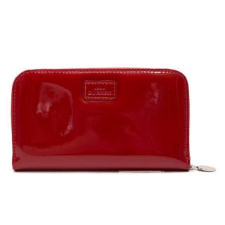 Lulu Guinness Red Patent Continental Wallet
