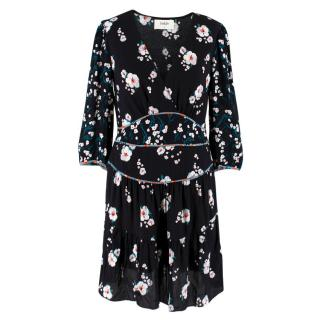 Ba&Sh Black Floral Dress