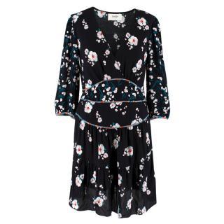 Ba&Sh Black Floral Dress