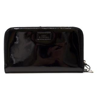 Lulu Guinness Black Patent Continental Wallet