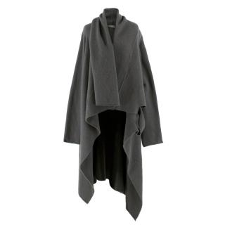 Rick Owens Longline Grey Wool & Cashmere Cardigan
