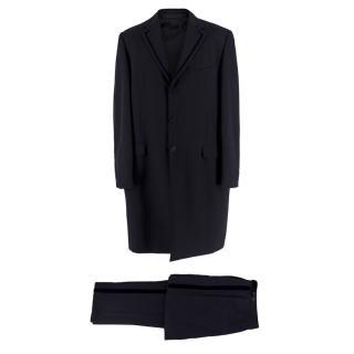 Versace Black Longline Classic Tailored Suit