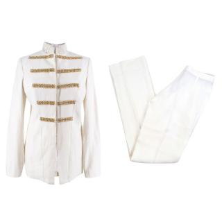 Immortal Couture White Tailored Suit