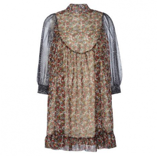 Manoush python plisse floral dress
