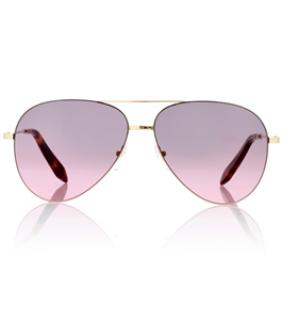Victoria Beckham Feather Light Aviator Bordeaux.Grey Sunglasses