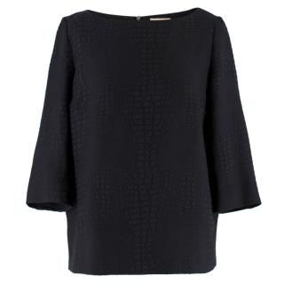 Ba&Sh Mock Croc Textured Top