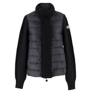 Moncler SS18 Black Knit & Down Jacket