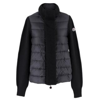 Moncler SS18 Black Knit & Down Jacket
