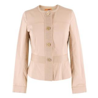 Tory Burch Beige Button-Up Jacket